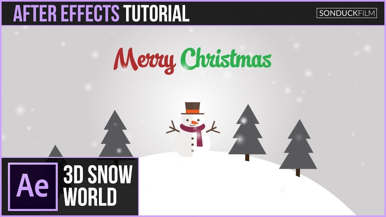 maxresdefault 6 9 - 三维雪世界圣诞动画After Effects Tutorial 3D SNOW WORLD Christmas Animation