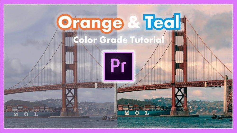 orange teal color grade premiere pro - 橙色水鸭青颜色分级Orange Teal Color Grading  Premiere Pro Tutorial