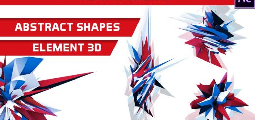 maxresdefault 11 11 520x245 - 抽象三维形状After Effects Tutorial Abstract 3D Shapes using Element 3D