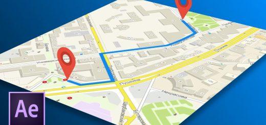 maxresdefault 12 7 520x245 - 在地图上创建动画路径Создаем анимированный путь по карте в After Effects