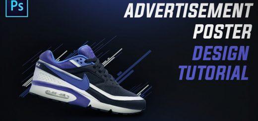 maxresdefault 23 6 520x245 - 简单的耐克鞋海报设计Photoshop Tutorial Simple Nike Shoe Poster Design