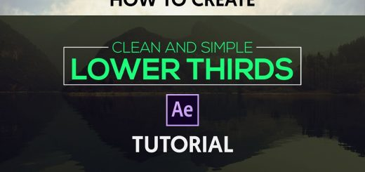 maxresdefault 4 3 520x245 - 清洁简单的标题After Effects Tutorial  Clean  Simple Lower Thirds
