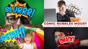 7 - Premiere预设-80个电视综艺节目中常用卡通搞笑气泡贴纸文字动画