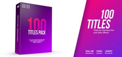 100 titles pack 1080 2 520x245 - AE 100组文子标题动画Titles Pack