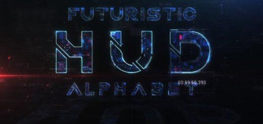 1080 520x245 - AE模板-未来科技感HUD英文字母数字预设动画