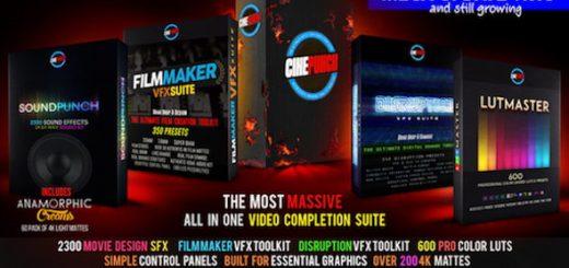 CINEPUNCH Master Suite 520x245 - 多种不同效果视频转场AE模板+ffx调色预设+WAV音效素材+光效视频