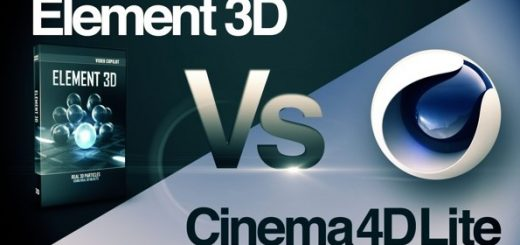 E3DVSC4D 520x245 - AE插件e3d和c4d有那个好用?Cinema 4D 和Element 3D的主要区别