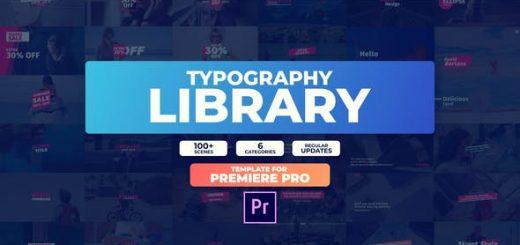 Essential Typography Library MOGRT preview 520x245 - Premiere预设-100种现代流行文字标题排版PR预设动画