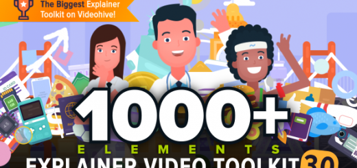 Explainer video toolkit hero image 520x245 - AE模板卡通人物角色MG动画场景商品活动解说推广服务演示介绍