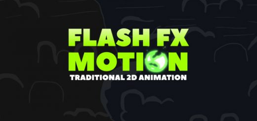 Flash fx liquid motion after effects trmg template animation graphics traditional animation 520x245 - AE模板300卡通手绘闪电烟雾火焰特效MG动画元素带音乐与视频素材