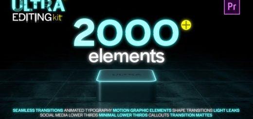 Ultra Editing Kit 520x245 - Pr预设-2000种文字标题排版指示线图形动画视频无缝转场工具包