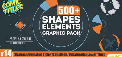 1920x1080 V14 520x245 - AE模板-500+组图形元素动画FX漫画爆炸流液字幕转场4K分辨率