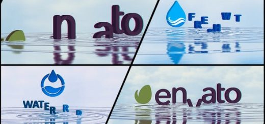 Water Ripples Logo IMG 520x245 - AE模板-企业LOGO水波纹出现