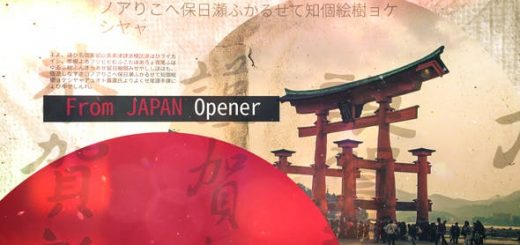 image preview 520x245 - AE模板-日本古风图文介绍展示动画片头 From Japan Opener