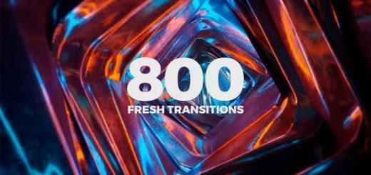Fresh Transitions 520x245 - AE模板-800个摄像机缩放扭曲粒子光效干扰笔刷水墨图形遮罩切割视频转场预设