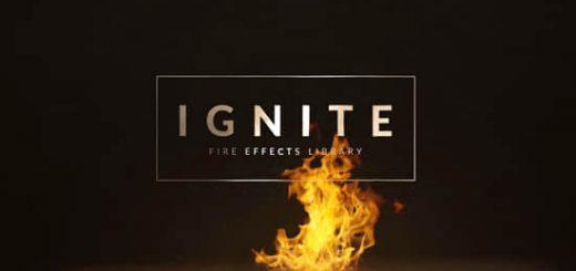 Ignite 520x245 - 554组地面水面火焰燃烧喷发4K特效合成视频素材