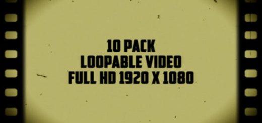 Old Film Frames 520x245 - 10组复古老电影胶片闪烁污渍划痕视频素材