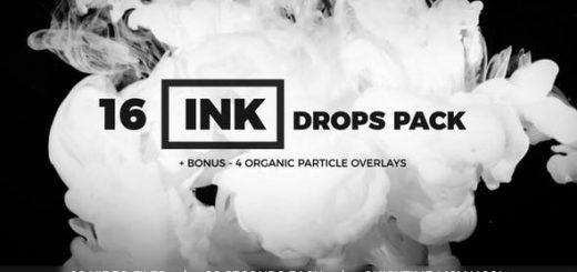 inline image preview 520x245 - 16个烟雾水墨动画视频素材+4个粒子素材 Ink Drops Pack