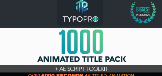 preview image typo pro huge tittle pack typography ae after effects template project 520x245 - AE脚本  1000+创意文字标题字幕排版动画工具包
