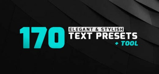 170 Text Presets 1 520x245 - AE脚本+AE预设:170种优雅文字标题预设动画 170 Elegant & Stylish Text Presets